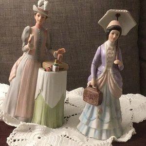 2 Mrs Albee figurines